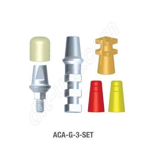 3mm Cuff Modular Abutment Set for Standard Platform Internal Hex Connection