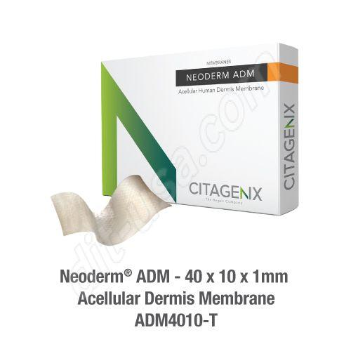 Neoderm ADM 40x10x1mm Acellular dermis membrane