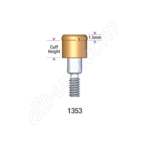 DSI DIO 3.8 SUBMERGED LOCATOR ABUTMENT x 3mm cuff #1353