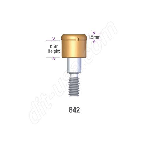 Internal Morse Taper Tissue Level Compatibles 4.1 / 4.8mm x 5mm Locator Implant Abutment #8954