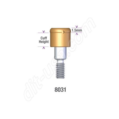 Locator IMZ 4.0mm x 1mm DIAMETER (NON-HEX) Implant Abutment #8031 (ea)
