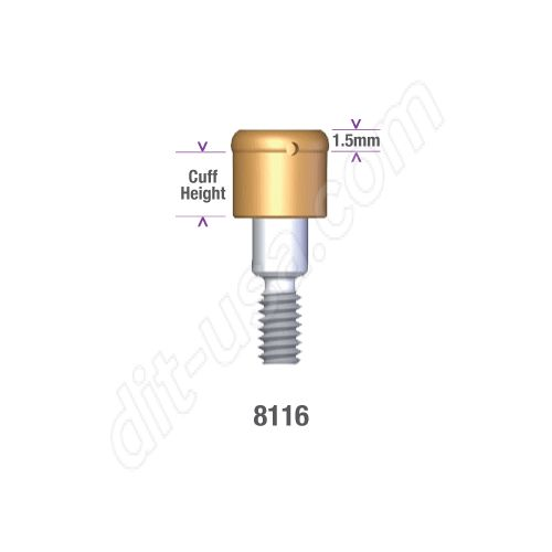 Locator Astra Micro Thread (aqua system) 3.5/4.0mm x 2mm Implant Abutment #8116 (ea)
