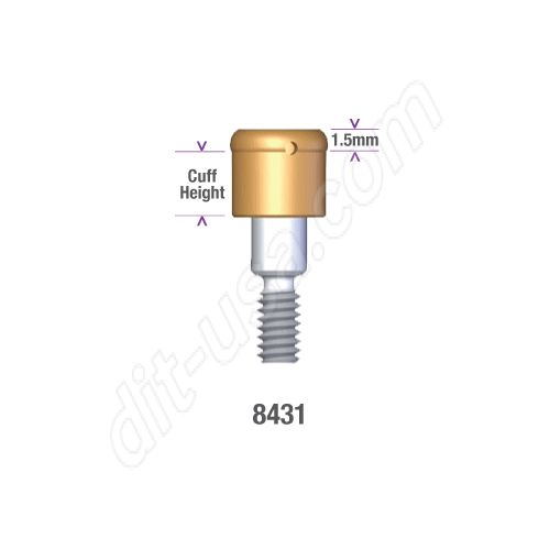 Biomet 3I Certain 3.4mm x 1mm Locator Abutment #8431