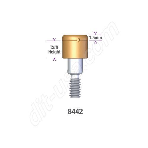 BIOMET 3.4 x 2mm (#8442) MICROMINIPLANT (HEX) LOCATOR ABUTMENT