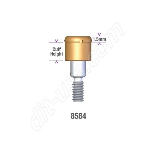 Locator Bio-Lok 5.00mm x 4mm Hex IC Implant Abutment #8584 (ea)