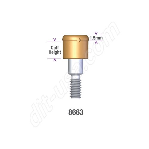 Locator MIS 3.75, 4.2mm DIAMETER x 2.5mm INTERNAL HEX IMPLANT (STANDARD PLATFORM) Implant Abut #8663)