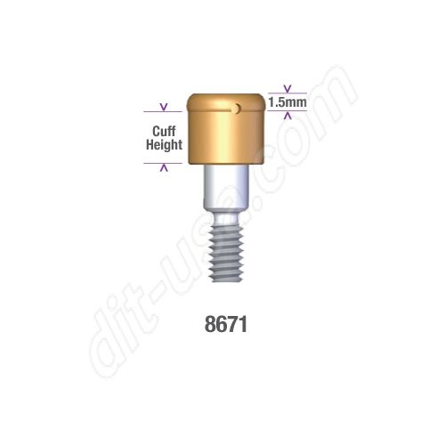 Locator MIS 5.0mm DIAMETER x 0mm INTERNAL HEX IMPLANT (WIDE PLATFORM) Implant Abutment #8671 (ea)