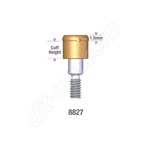 Locator STERI-OSS REPLACE (EXTERNAL HEX) and Compatibles 5.0mm DIAMETER x 3mm Implant Abutment #8837