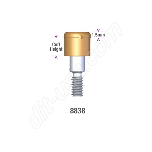 Locator STERI-OSS REPLACE (EXTERNAL HEX) and Compatibles 5.0mm DIAMETER x 4mm Implant Abutment #8838