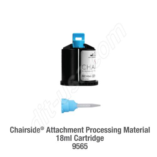 Chairside Attachment Processing Material, 18ml Cartridge (10 blue mixing tips included in each package)