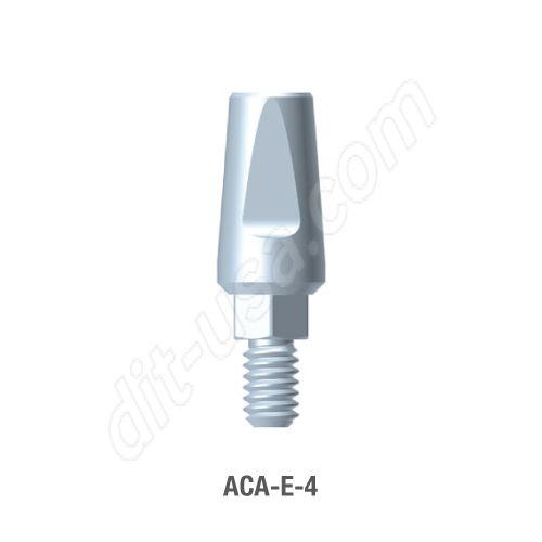 4.0mm Cuff Straight Titanium Abutment for Standard Platform Internal Hex Connection