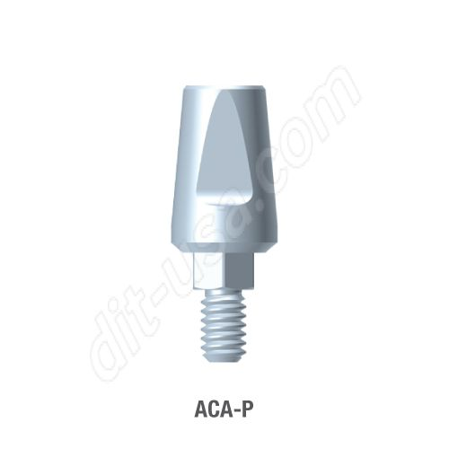 Wide Profile Straight Titanium preparable Abutment for Standard Platform Internal Hex Connection