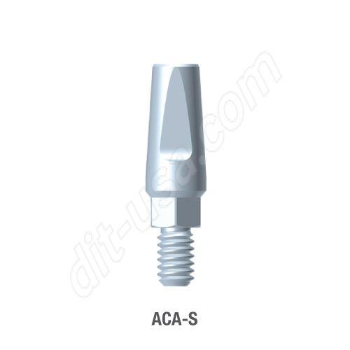 Narrow Profile Straight Titanium preparable Abutment for for Standard Platform Internal Hex Connection