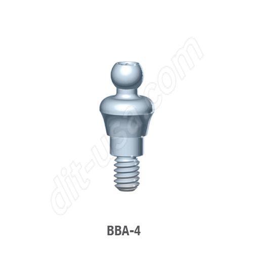 4mm Cuff O-Ball Abutment for Standard Platform Internal Hex Connection