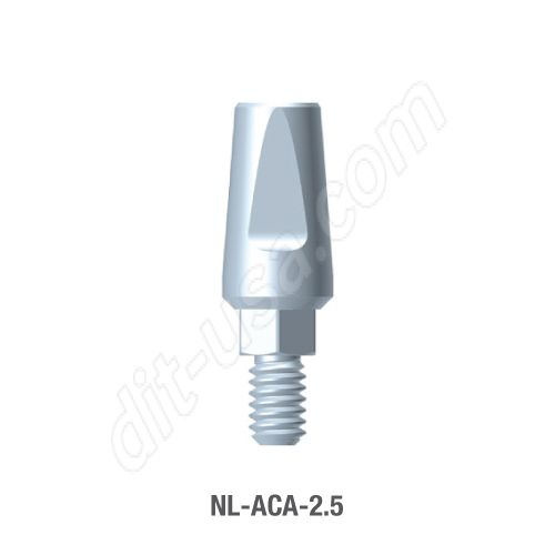2.5mm Cuff Straight Titanium Abutment for Narrow Platform Conical Connection