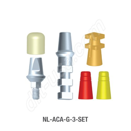 3mm Cuff Modular Abutment Set for Narrow Platform Conical Connection