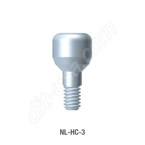 3mm Healing Abutment for Narrow Platform Conical Connection