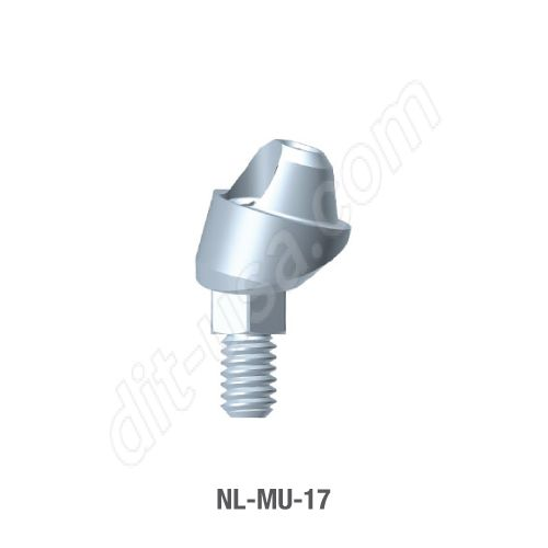17 Degree Angled Multi-Unit Abutment for Narrow Platform Conical Connection.
