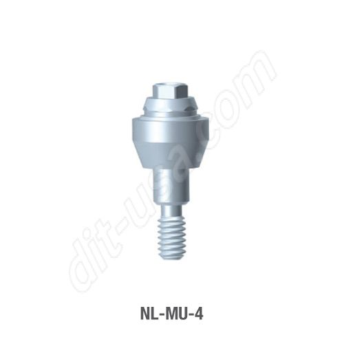 4mm Cuff Straight Multi-Unit Abutment for Narrow Platform Conical Connection.