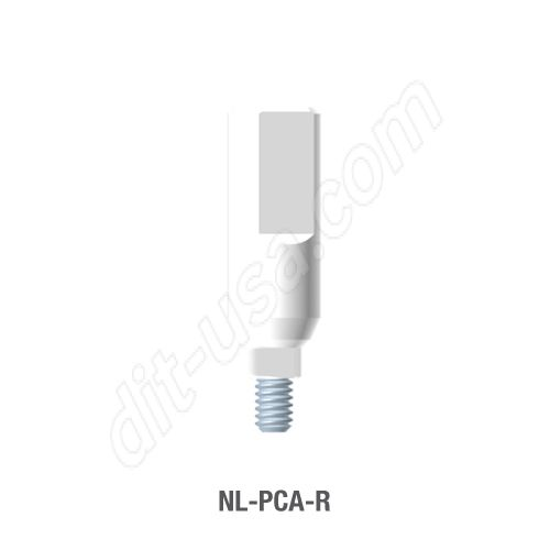 Non-Engaging Plastic Castable UCLA Abutment for Narrow Platform Conical Connection.