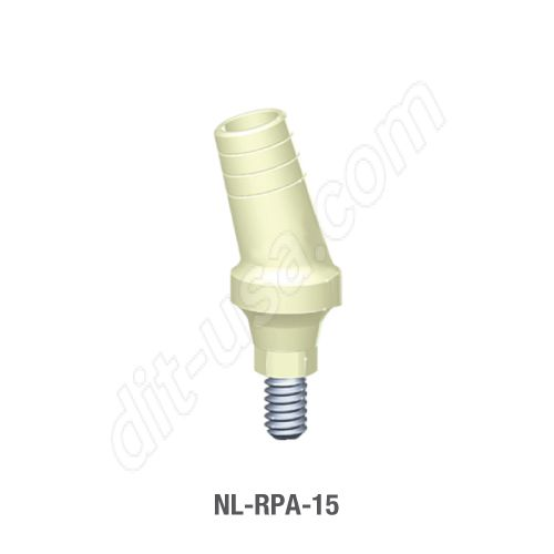 15 Degree Angled Temporary Abutment for Narrow Platform Conical Connection