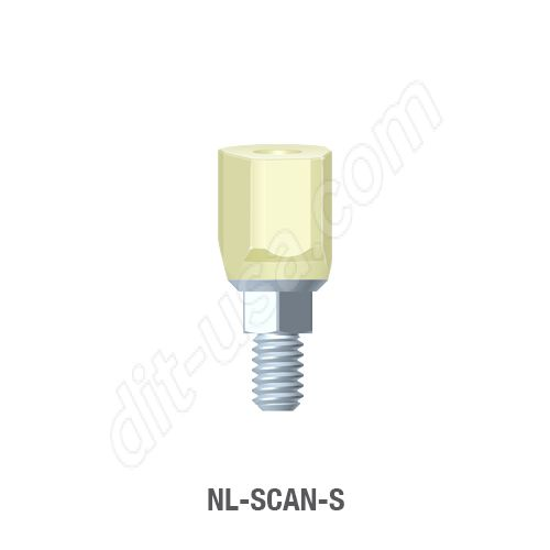 Short Scan Body for Narrow Platform Conical Connection