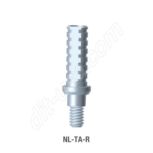 Non-Engaging Straight Titanium Temporary Abutment for Narrow Platform Conical Connection