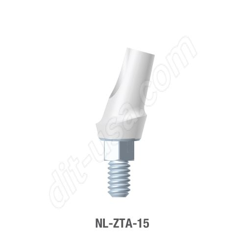 15 Degree Angled Zirconia Abutment Narrow Platform Conical Connection
