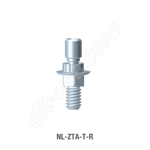 Non-Engaging Screw Retained T-Base Abutment for Narrow Platform Conical Connection