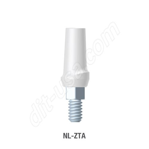 Straight Zirconia Abutment for Narrow Platform Conical Connection