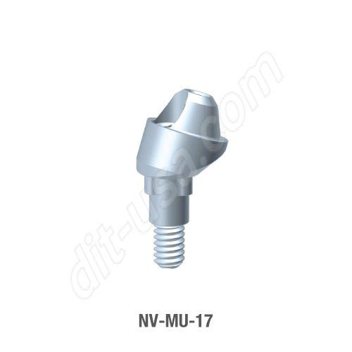 17 Degree Angled Multi-Unit Abutment for Narrow Platform Tri-Lobe Connection.