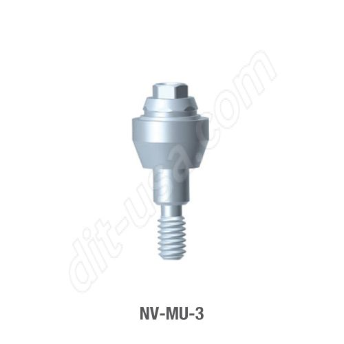 3mm Cuff Straight Multi-Unit Abutment for Narrow Platform Tri-Lobe Connection.