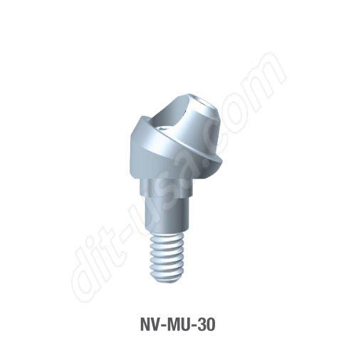 30 Degree Angled Multi-Unit Abutment for Narrow Platform Tri-Lobe Connection.