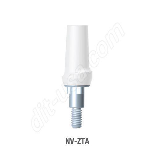 Straight Zirconia Abutment for Narrow Platform Tri-Lobe Connection