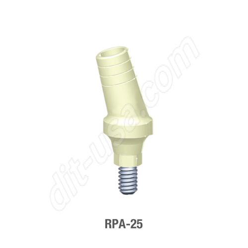 25 Degree Angled Temporary Abutment for Standard Platform Internal Hex Connection