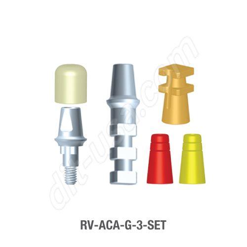3mm Cuff Modular Abutment Set for Standard Platform Tri-Lobe Connection