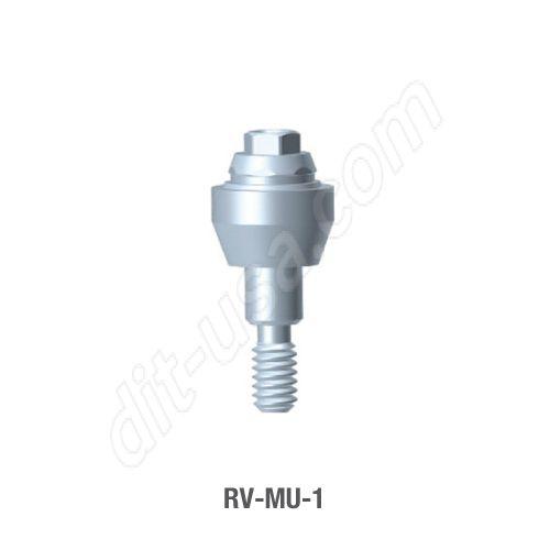 1mm Cuff Straight Multi-Unit Abutment for Standard Platform Tri-Lobe Connection.