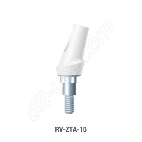 15 Degree Zirconia Abutment for Standard Platform Tri-Lobe Connection