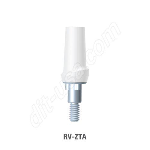 Straight Zirconia Abutment for Standard Platform Tri-Lobe Connection