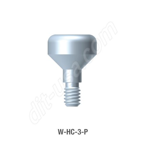 3mm Anatomical Healing Abutment for Wide Platform Internal Hex Connection