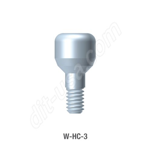 3mm Healing Abutment for Wide Platform Internal Hex Connection