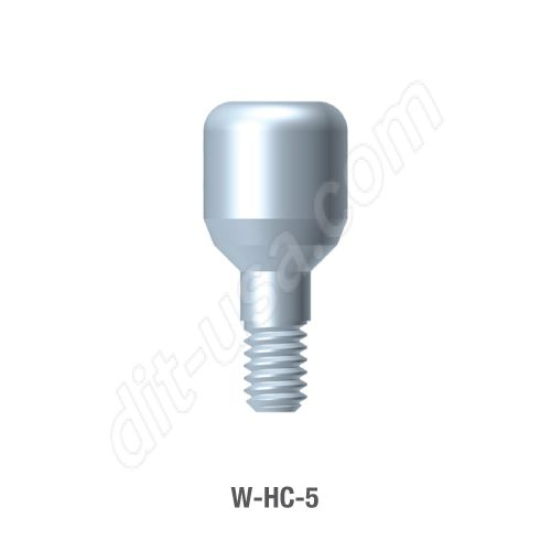 5mm Healing Abutment for Wide Platform Internal Hex Connection
