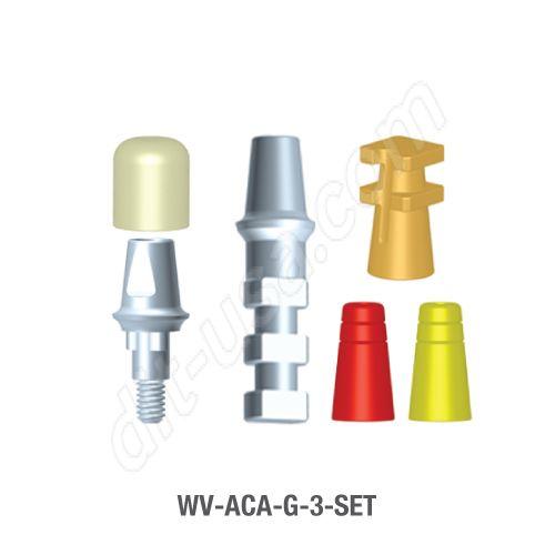 3mm Cuff Modular Abutment Set for Wide Platform Tri-Lobe Connection