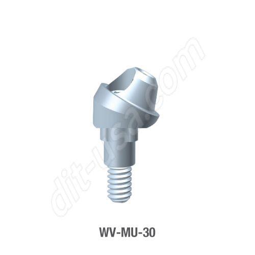 30 Degree Angled Multi-Unit Abutment for Wide Platform Tri-Lobe Connection