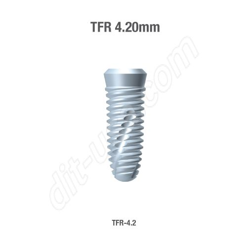 TAPERED TITE FIT 4.2MM IMPLANTS INTERNAL OCTAGON AND MORSE TAPER(ASSORTED LENGTHS)