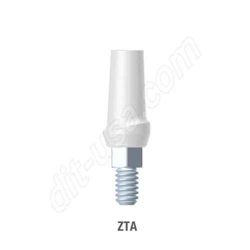 Straight Zirconia Abutment for Standard Platform Internal Hex Connection