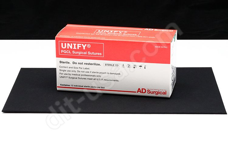 """4-0 x 18"""" Unify PGCL Resorbable Mono-filament Sutures with FS-2 Needle - 12/Box"""