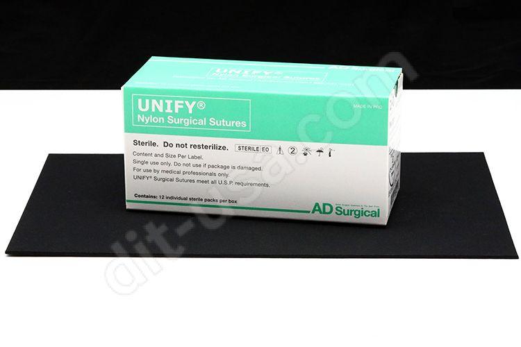 "5-0 x 18"" Unify Nylon Sutures with PS-3 Needle - 12/Box"