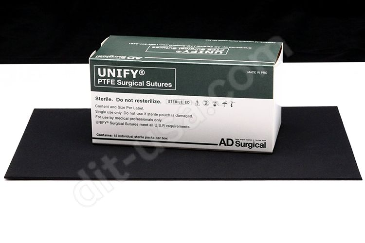 """5-0 x 18"""" Unify PTFE Sutures with P-3 Needle - 12/Box"""