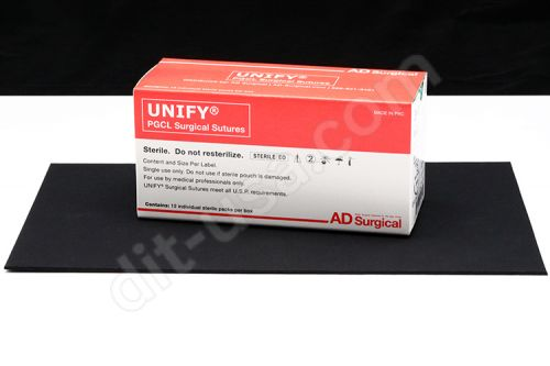 """5-0 x 18"""" Unify PGCL Resorbable Mono-filament Sutures with FS-2 Needle - 12/Box"""